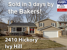 2410 Hickory sold in3 days by the Bakers